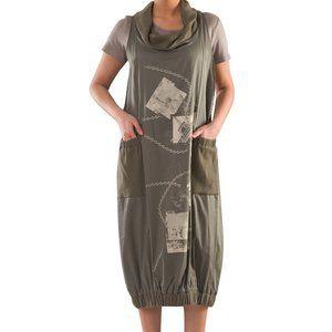 Plus Size Cowl Neck Baggy Dress